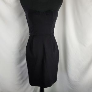 Diane von Furstenberg Black Strapless Dress Size 2
